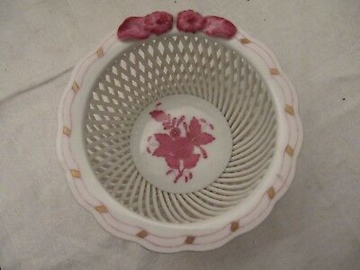 Herend Porcelain Chinese Bouquet Pink Bowl