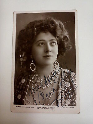 Clara Evelyn Postcard. Signed. Vintage. Edwardian. Rotary Series. Unused.