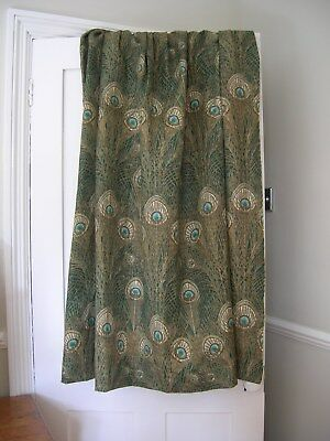 Liberty of London Hera Curtains Peacock Feathers Linen Fabric