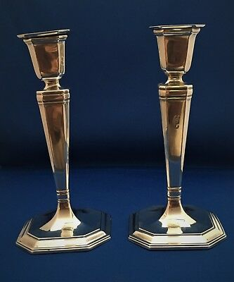 Pair of Antique Tiffany & Co. of Sterling Candlesticks - 1915