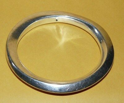 "VTG~MODERNIST~""925""~STERLING~SILVER~ORNATE~ABSTRACT~DESIGN~BANGLE~BRACELET~25.1g"