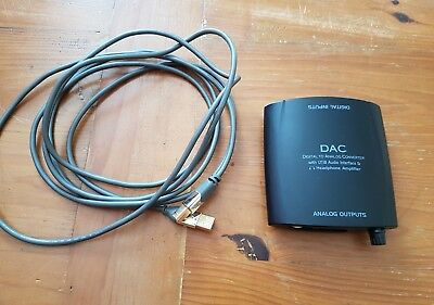 USB DAC & Headphone Amp 24/192 rrp £120 inc USB Cable rrp £20 used once