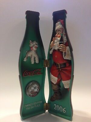 Sundblom Santa 75th Anniversary Resin Hinged Bottle