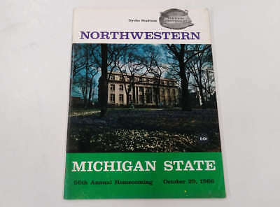 Northwestern vs Michigan State Dyche Stadium Football 1966 Program J72045