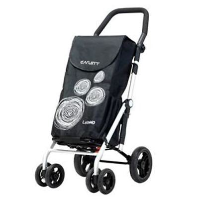 Trolley-The ULTIMATE  6 Wheel Folding Shopping Trolley+Brake CARLETT