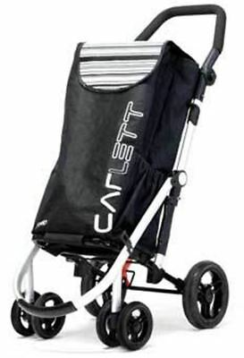 Shopping Trolley Folding 6 Wheel Swivel Brake Anti-Roll Bar Deluxe Bag CARLETT