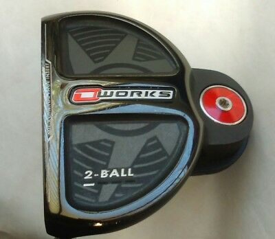"""Odyssey O Works 2-Ball left hand, 34"""" Putter with Super Stroke 2.0 grip"""