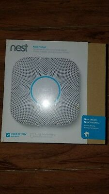 Nest Protect Smoke Carbon Monoxide Detector Alarm WIRED 120V S3003LWES
