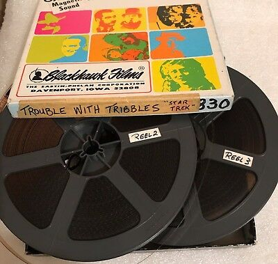 "STAR TREK ""The TROUBLE with TRIBBLES"" (1966 TV) Super 8mm TWO (of THREE) Reels!"