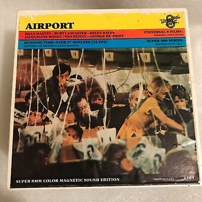 """Airport"" (1970) Super 8mm Color Sound 7-inch Reel---All-Star Disaster!!"