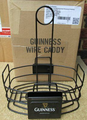 Guinness Beer Wire Caddy Sign NEW IN BOX Bar Pub Man Cave Table Top Holder