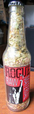 Rogue Raw Materials Beer Bottle W/ Grains Inside & Cap Excellent Condition RARE