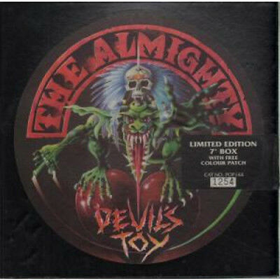 """ALMIGHTY Devil's Toy 7"""" BOX SET VINYL UK Polydor 7"""" Version In Numbered Box"""