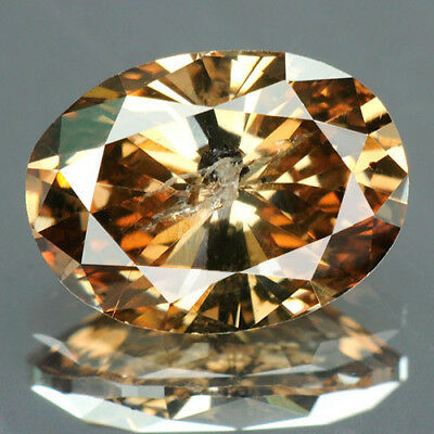 1.05 Cts. CERTIFIED Oval Brilliant Cut Golden Brown Loose Natural Diamond 5781
