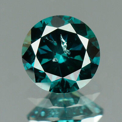 0.31 cts. CERTIFIED Round Cut Deep Ocean Blue Color Loose Natural Diamond HC18