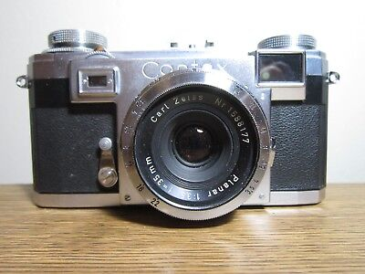 Zeiss Ikon Contax IIa Camera with 35mm f3.5 Planar Lens and Case