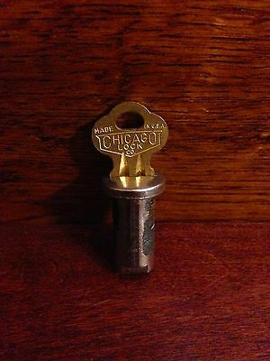 Lock and Key for vintage antique gumball candy vending machine with 1/4 inch Rod