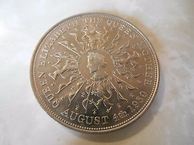 1980 UK English Crown Queen Mother 80th Birthday coin  UNC