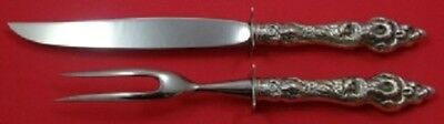 Les Six Fleurs By Reed and Barton Sterling Silver Steak Carving Set 2pc