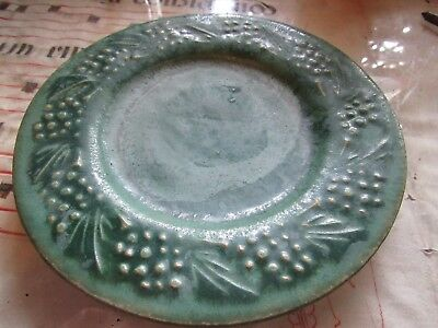 Antique Art And Crafts Pottery Plate, Signed