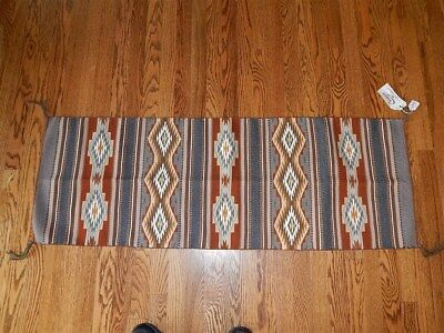 """Navajo Rug (Runner) Weaving by Mona Lula Laughing w/Provenance 18"""" x 50"""""""