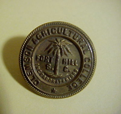 CLEMSON AGRICULTURAL COLLEGE  Fort Hill S.C. Vintage LAPEL  PIN