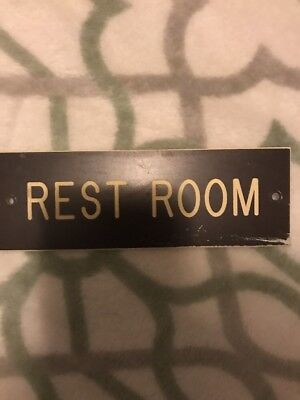 Rest Room Sign Old School Sign Bathroom Vintage