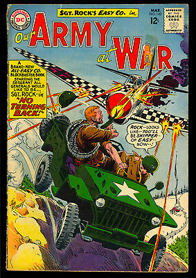 Our Army at War #140, 155, 174, 191 Sgt. Rock DC GROUP (4 Comics) 1964 VG