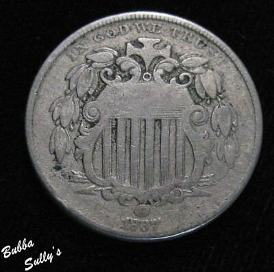 1867 With Rays Shield Nickel <> FINE