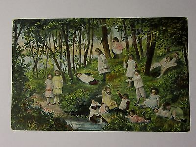 K418 - c1905 YOUNG CHILDREN in The WOODS Babies French France Postcard