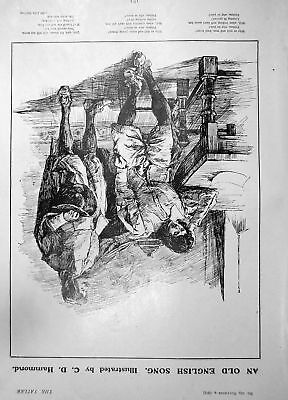 Print Mountain Climbing Alps Country Girl Pineros Letty 1903 4 Pages 602Q010