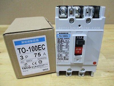 Teco Thermal-Magnetic Breaker TO-100EC-3P75A 75A