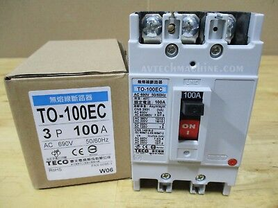 Teco Thermal-Magnetic Breaker TO-100EC-3P100A 100A
