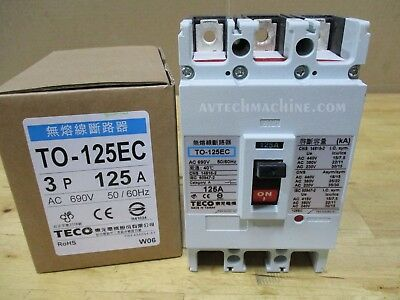 Teco Thermal-Magnetic Breaker TO-125EC-3P125A 125A