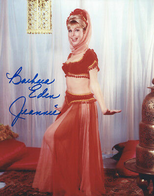 I DREAM OF JEANNIE Genie BARBARA EDEN nice signed photo!