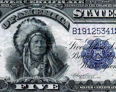 HGR 1899 $5 Indian Chief ((RARE Lyons/Treat)) AWESOME GRADE