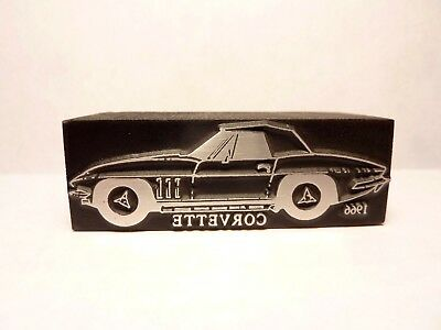 1966 Chevrolet Corvette Logo Printer`s Block