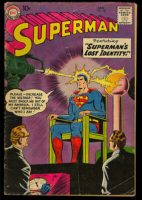 Superman #126 Nice Unrestored Early Silver Age DC Comic 1958 GD+