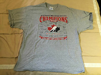 2002 Winter Olympics Canada Gold Medal Champions Hockey T-Shirt - Size XL