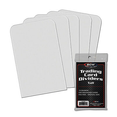 BCW 1tcdtall Hohes Trading Card Teiler