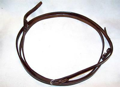 Made in England New Bridle Leather English Bridle Reins Horse Size 5/8 x 104 in