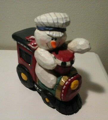 Vintage Eddie Walker Train with Snowman Engineer Christmas Midwest Cannon Falls