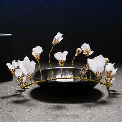 Wedding Pearl Flower Crystal Rhinestone Bridal Headband Clip Hair Band Tiara