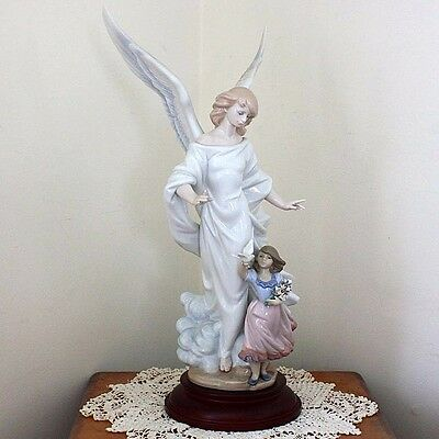 SALE! Lladro GUARDIAN ANGEL 6352 SIGNED Ltd Ed Original Box Stand Collectors
