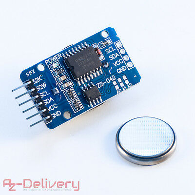 AZDelivery Real Time Clock RTC DS3231 + Batterie inklusive I2C für Arduino, Pi