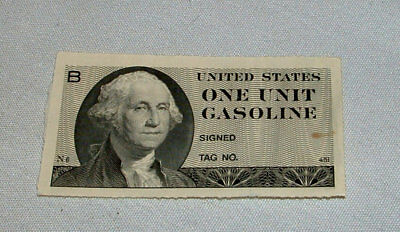 Rare United States Us Gasoline  Gas Ration Ticket Unused
