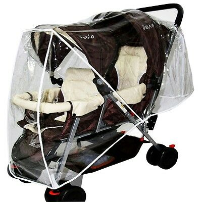 Pop Stroller Raincover Toddler Twin Pushchair Cover Transparent Windproof Shield