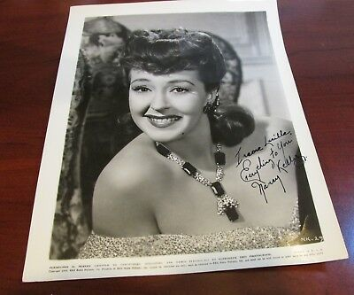 Nancy Kelly Hand Signed Photo...Star On The Walk of Fame...