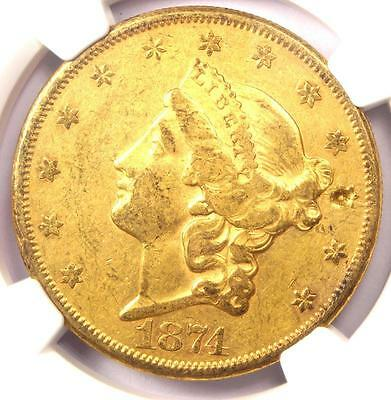 1874-CC Liberty Gold Double Eagle $20 - NGC XF Details (EF) - Carson City Coin!