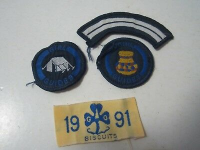 4 x Girl Guide Sew On Cloth Patches